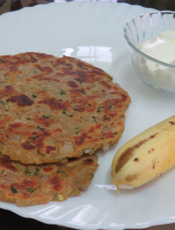 Sindhi Koki - Serving Suggestion