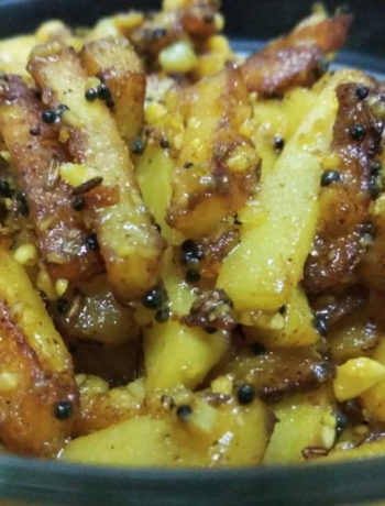 Potato Bhaji finger chip style
