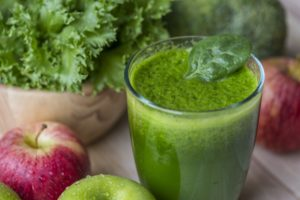 Palak added to Smoothie