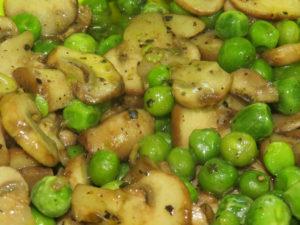 Mushroom Green Peas Cooked