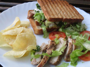 Grilled Chicken Toasted Sandwich is ready!