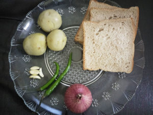 Preparation for Mashed Potato Grilled Sandwich