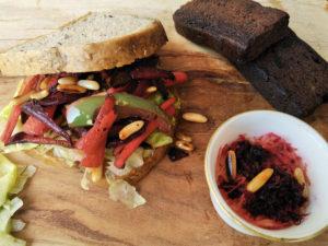 Vegan Christmas Sandwich served