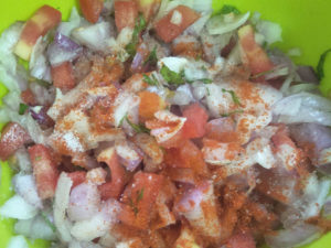 Onion Tomato Chilli Prep