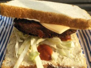 Protein Tikki Sandwich Served