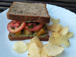 Tansdoori Aloo Sandwich served
