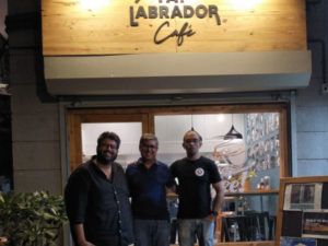 With Aniket Naik at the Fat Labrador Cafe