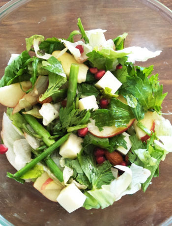 Apple Asparagus Almonds Salad