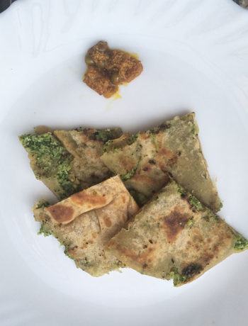 Brocolli and Cheese Paratha ready
