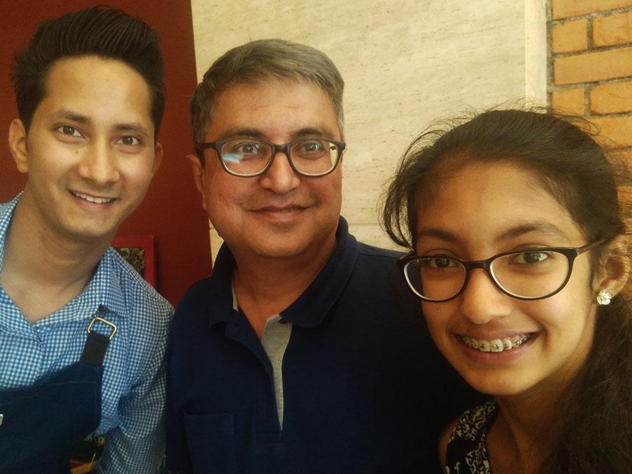 Dushyant with Atharva and Khushi