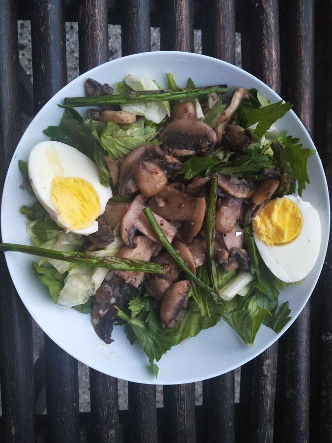 Mushroom Egg Salad