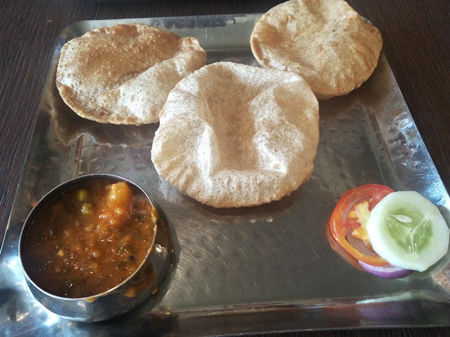 Poori Bhaji at Upsouth Bavdhan