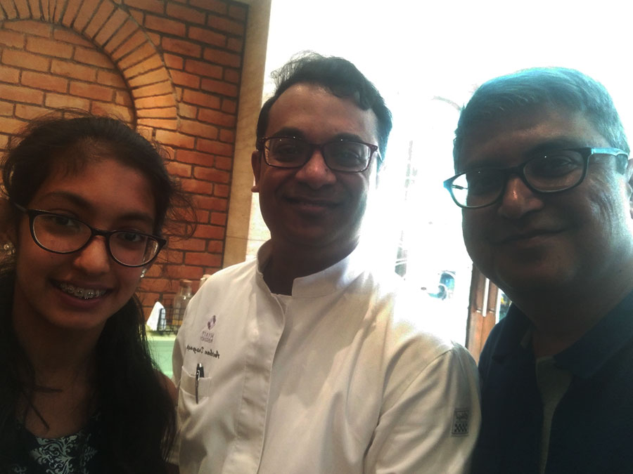 With Anirban Dasgupta - The Executive Chef at Zeta Hyatt Regency