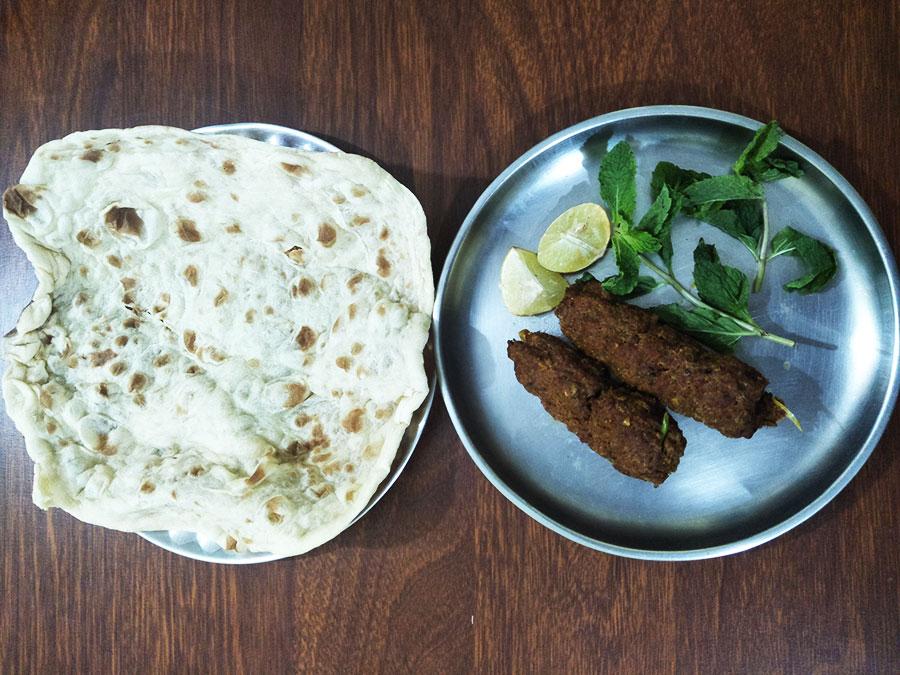 Seekh Kebab with Porota